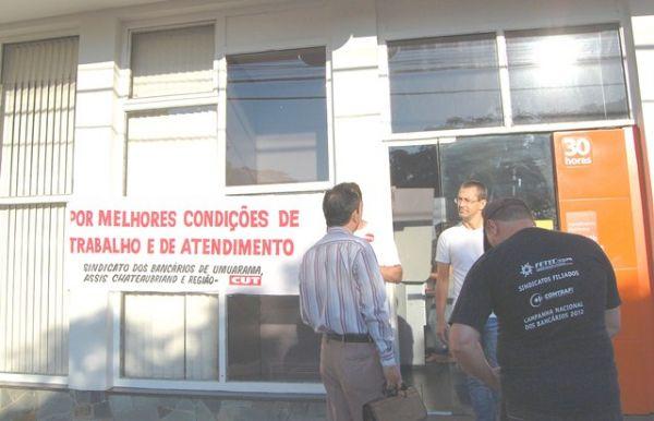 Bancários do Itaú paralisam atividades por melhores condições de trabalho