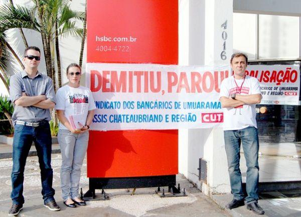 Bancários realizam dia nacional de luta contra reestruturação no HSBC