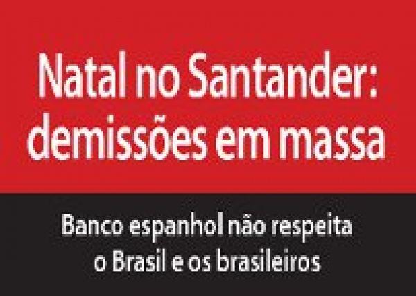 Bancários criticam comunicado da vice-presidenta de RH do Santander