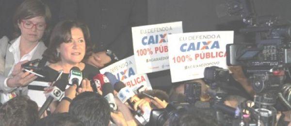 Bancários defendem Caixa 100% pública na posse de Miriam Belchior