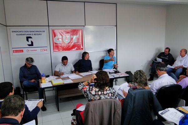 Sindicatos do PACTU participam da reunião da Executiva da Fetec-CUT/PR