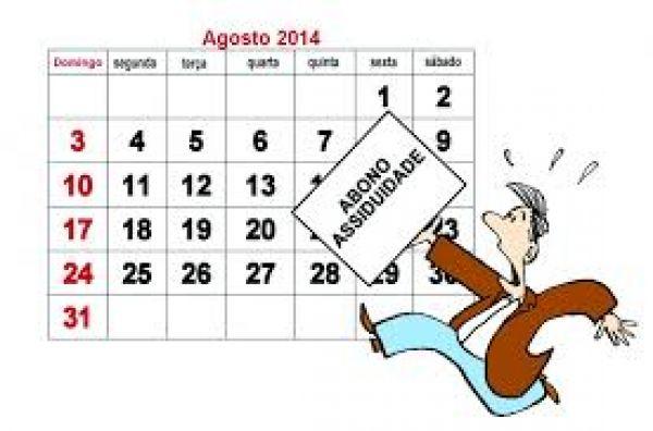 Prazo para abono-assiduidade vai até 31 de agosto
