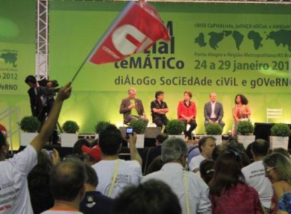 CUT no Fórum Social: papel da sociedade civil será determinante para sucesso da RIO+20, aponta Dilma