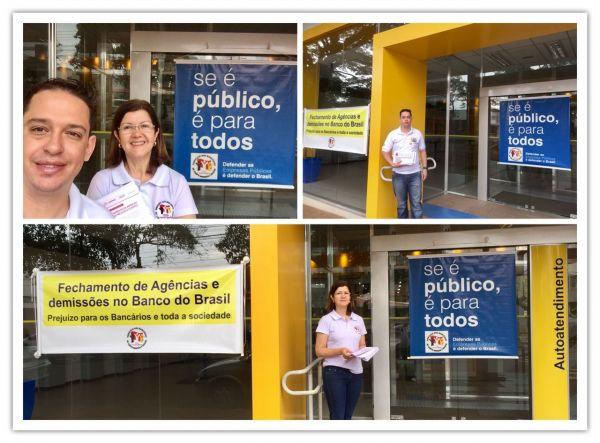 Pactu no Dia Nacional de Luta no Banco do Banco do Brasil