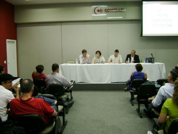 Contraf-CUT discute ponto eletrônico e respeito à jornada com Santander
