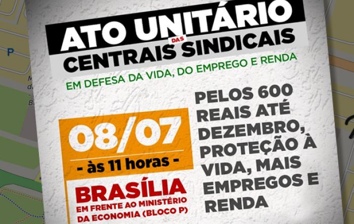 Participe do ato da CUT e centrais sindicais em Brasília sem sair de casa