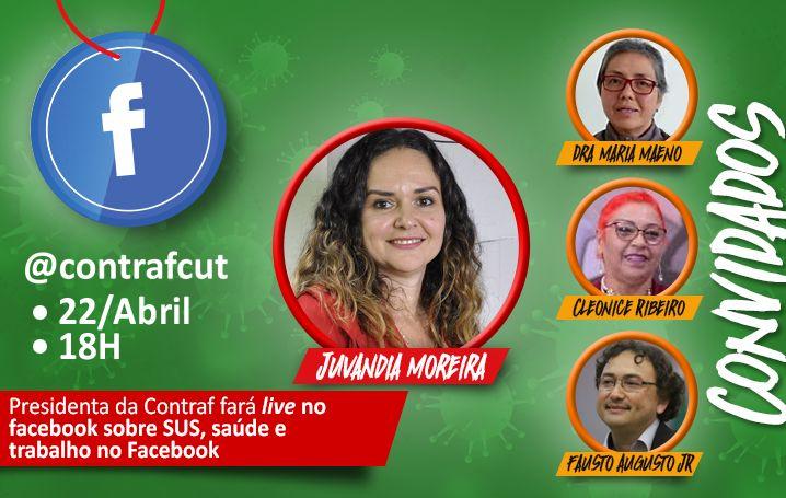 Presidenta da Contraf fará live no facebook sobre SUS, saúde e trabalho no Facebook