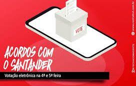 Quinta-feira (3) tem assembleia dos funcionários do Santander e da Aymoré