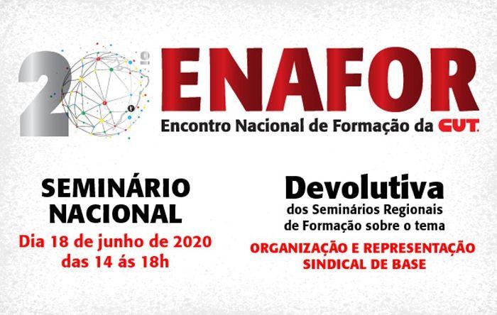 Rede Nacional de Formação da CUT debate organização e representação sindical dia 18