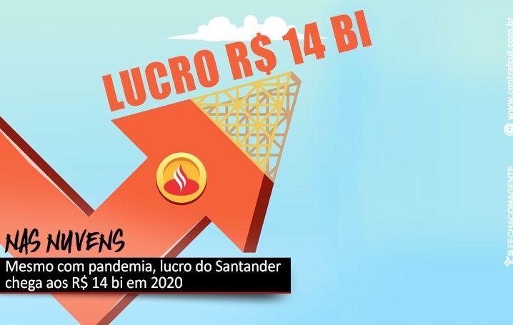 Santander lucrou R$ 13,9 bi em 2020
