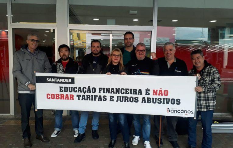 """Santander: Luta leva ao encerramento do projeto de """"orientação financeira"""""""