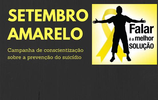 Setembro amarelo | Campanha de conscientização sobre a prevenção ao suicídio