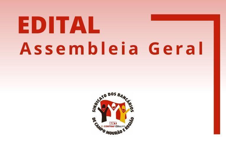 Sindicato de Campo Mourão convoca associados para Assembleia para Prestação de Contas do Exercício de 2020