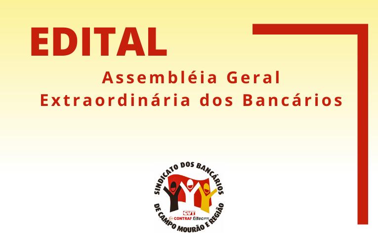 Sindicato de Campo Mourão publica Edital de Assembleia Geral Extraordinária