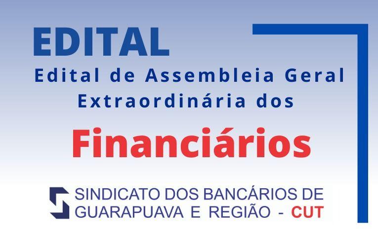 Sindicato de Guarapuava convoca nova assembleia dos financiários
