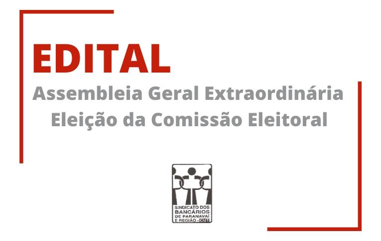 Sindicato de Paranavaí convoca Assembleia para eleição da Comissão que irá conduzir as eleições do Sindicato