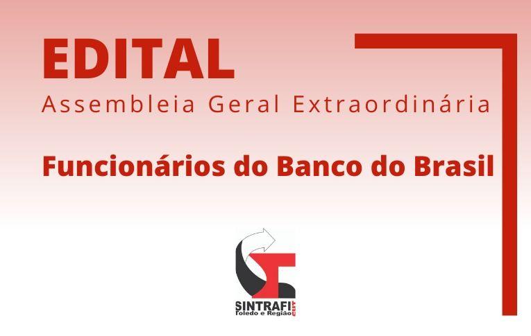 Sindicato de Toledo convoca funcionários do Banco do Brasil para Asembleia Digital
