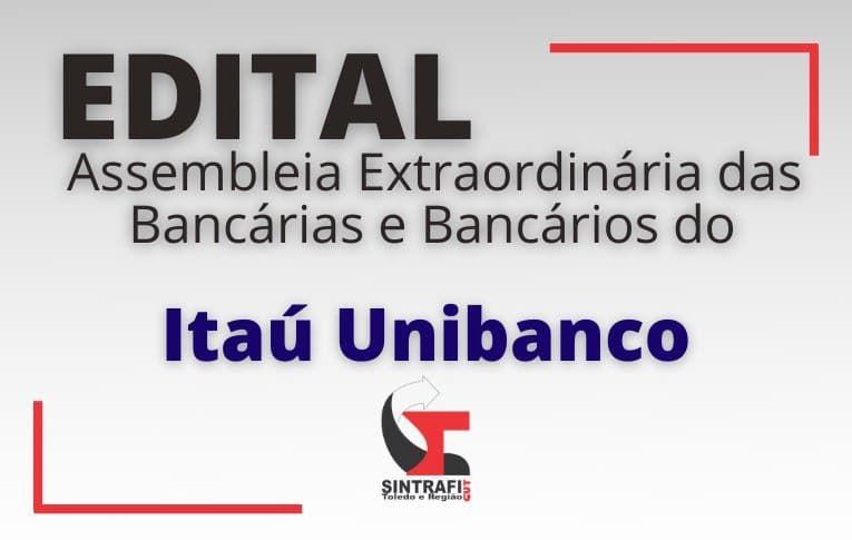 Sindicato de Toledo convoca funcionários do Itaú Unibanco para Assembleia Virtual