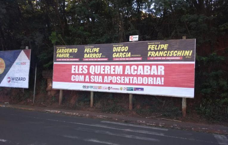 Sindicato de Umuarama faz pressão contra a Reforma da Previdência