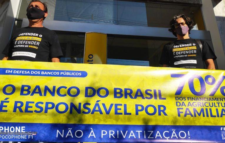 Sindicato de Umuarama participou de mais um Dia de Luta contra a Privatização do Banco do Brasil