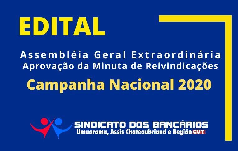 Sindicato de Umuarama publica Edital de Assembleia Geral Extraordinária