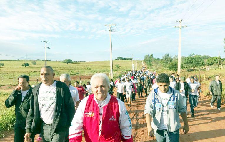 Sindicato dos Bancários de Umuarama participou da 17º Caminhada Ecológica de Umuarama
