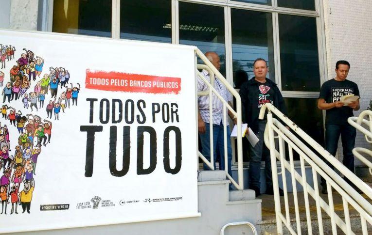 Sindicatos do Pactu participam do Dia Nacional em Defesa dos Bancos Públicos