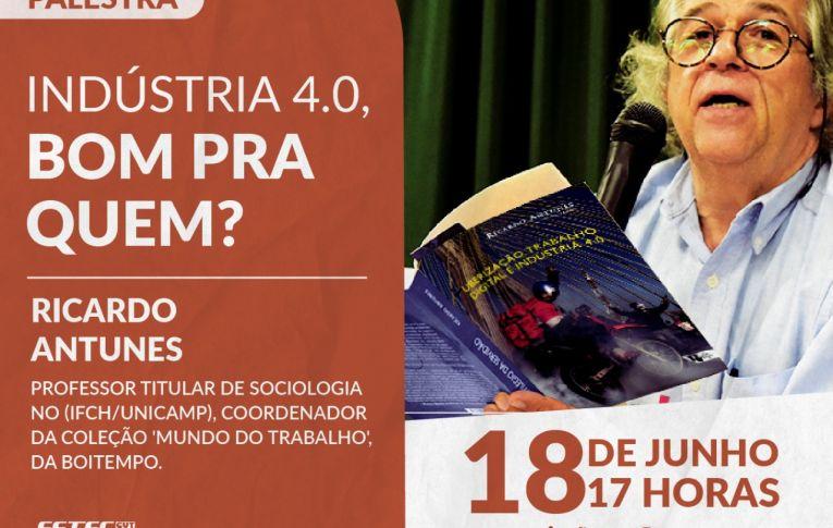Sociólogo Ricardo Antunes vai dar palestra para a Fetec e sindicatos