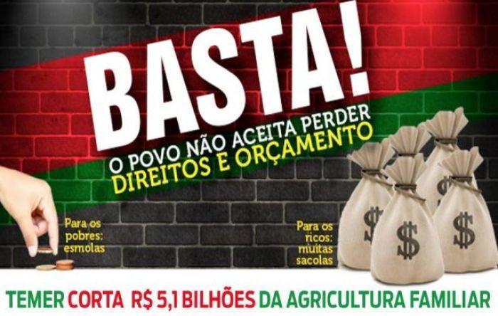 Temer já cortou cerca de R$ 5,1 bilhões do orçamento para a Agricultura Familiar