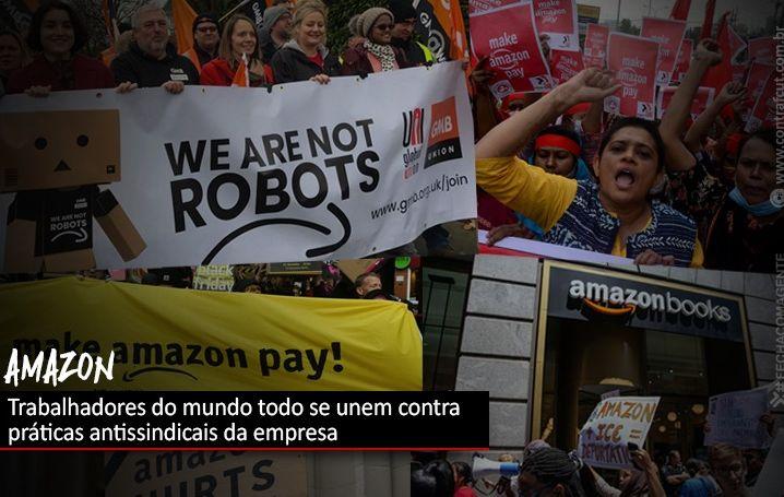 Trabalhadores de todo o mundo se unem contra práticas antissindicais da Amazon