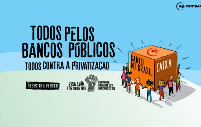 Trabalhadores realizam Dia Nacional em Defesa das Empresas Públicas