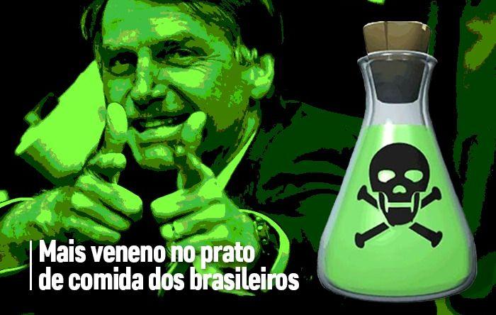 Tsunami de agrotóxicos: Bolsonaro libera mais veneno para mesa dos brasileiros