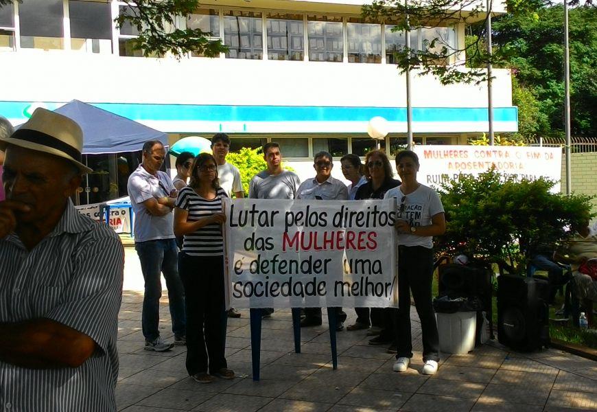 Foto Ato contra a Reforma da Previdência em Campo Mourão