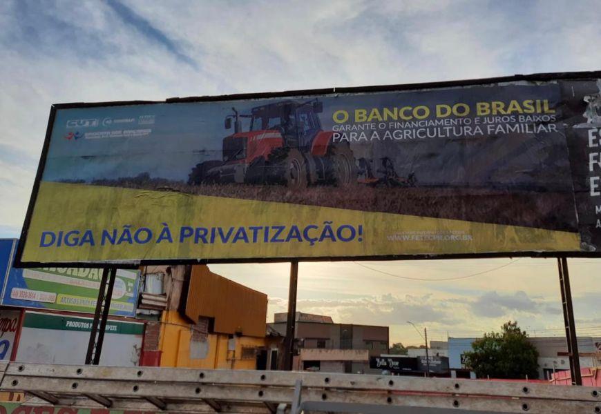 Foto Campanha contra a Privatização do Banco do Brasil