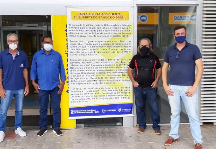 Foto Dia Nacional de Luta dos Funcionários do Banco do Brasil em 15/01
