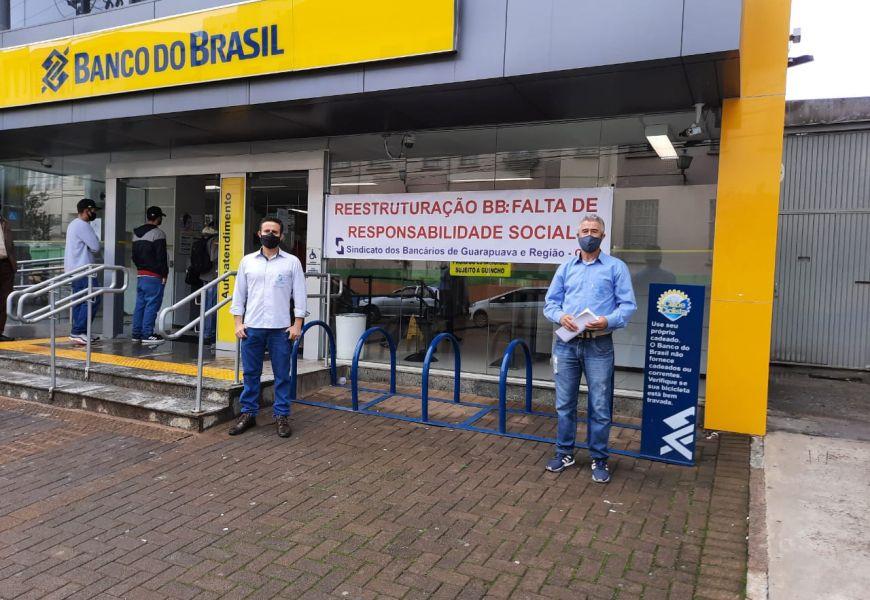 Foto Dia Nacional de Luta dos Funcionários do Banco do Brasil em 21/01