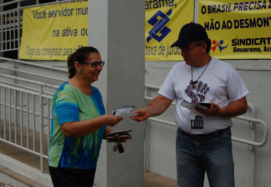 Foto Dia Nacional de Lutas contra os Descomissionamentos no Banco do Brasil