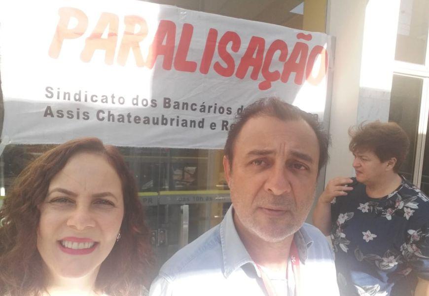 Wilson de Souza: Coordenador  e Maria Cristina: Diretora do sindicato Umuarama