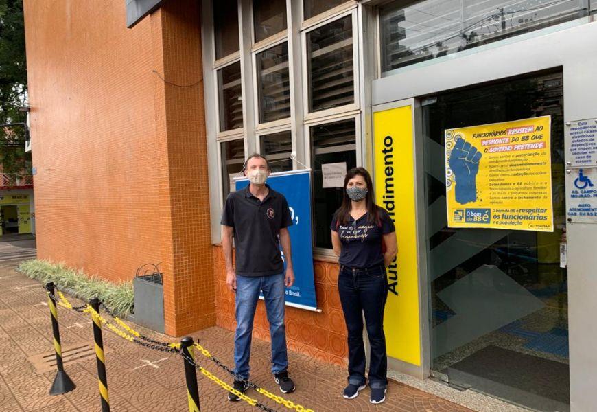 Foto Greve de 24 horas dos funcionários do Banco do Brasil