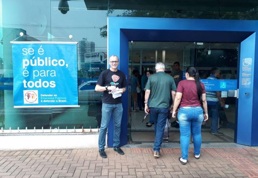 Foto Manifestações em Defesa das Empresas Públicas