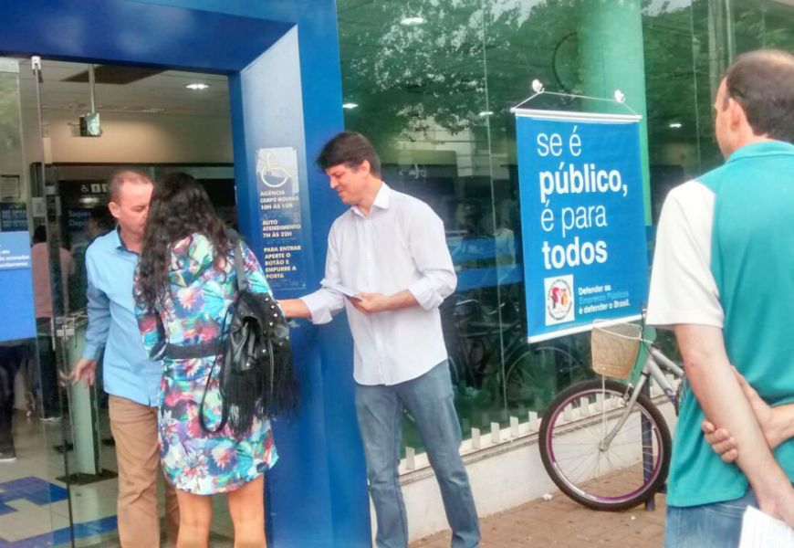 Foto No Pactu Dia Nacional de Defesa dos Bancos públicos