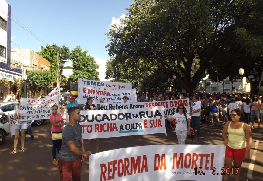Foto Sindicatos do PACTU na luta contra a Reforma da Previdência em 15/03